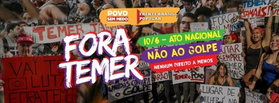 """""""Fora Temer – Temer raus!""""  Soziale Bewegungen rufen zum Kampf auf"""