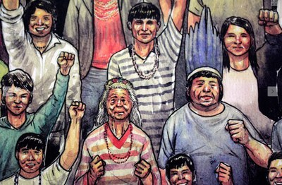 Comic über den Kampf der Guarani São Paulos