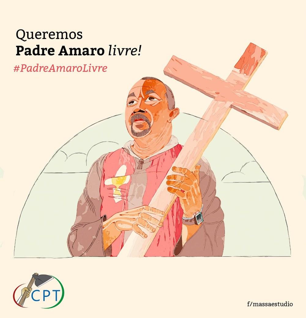 """CPT-Kampagne """"Queremos Padre Amaro Livre!"""""""