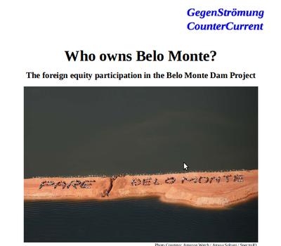 """""""Wem gehört Belo Monte?"""" – """"Who owns Belo Monte?"""""""