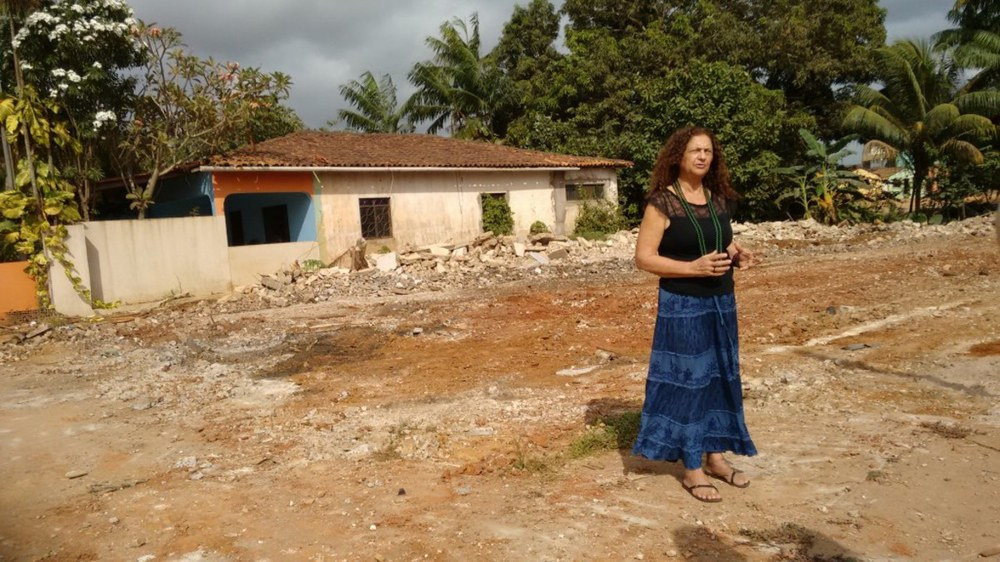 Antônia Melo vom Movimento Xingu vivo para sempre muss ihr Haus in Altamira räumen