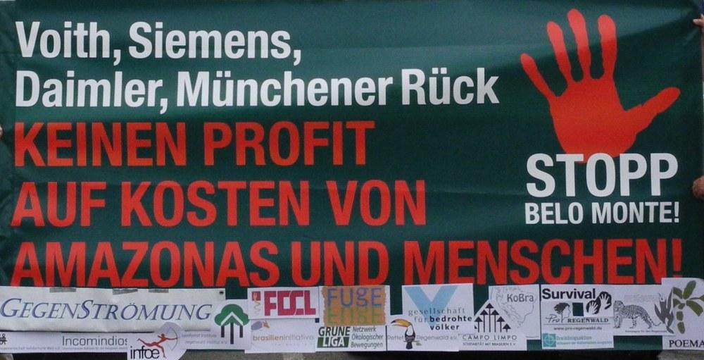 Munich Re wegen Belo Monte-Beteiligung weiter in der Kritik