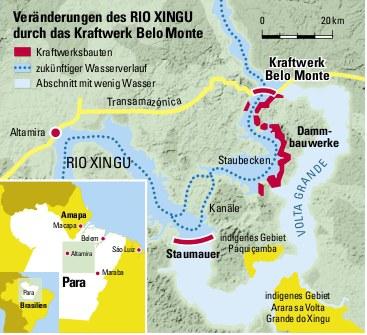 Stopp des Genehmigungsverfahrens für Goldabbau beim Staudammprojekt Belo Monte gefordert