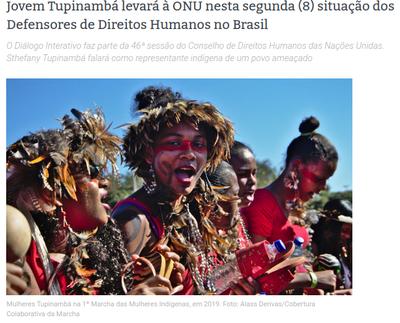 Brasiliens Indigene informieren UN-Sonderberichterstatterin über die Situation von Menschenrechtsverteidiger:innen in Brasilien