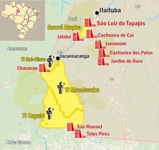 Munduruku setzen eigene Demarkierung ihres Landes fort