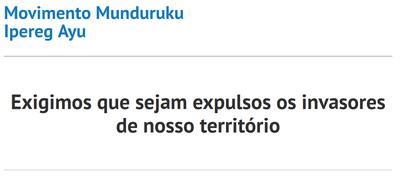 Munduruku: Wir fordern die Ausweisung der Eindringlinge aus unserem Territorium