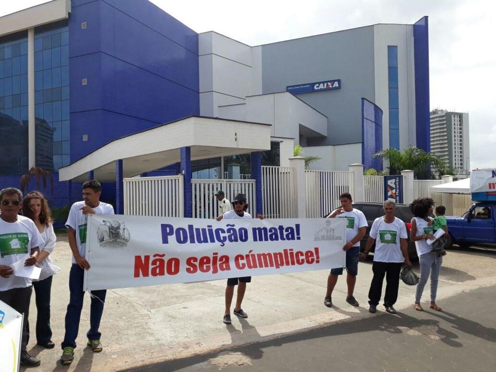 Protest für Umsetzung des Umsiedlungsanspruchs für Piquiá de Baixo wegen Luftverseuchung durch Stahlwerke