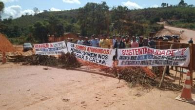 Proteste in Minas gegen Bergbauunternehmen Anglo American
