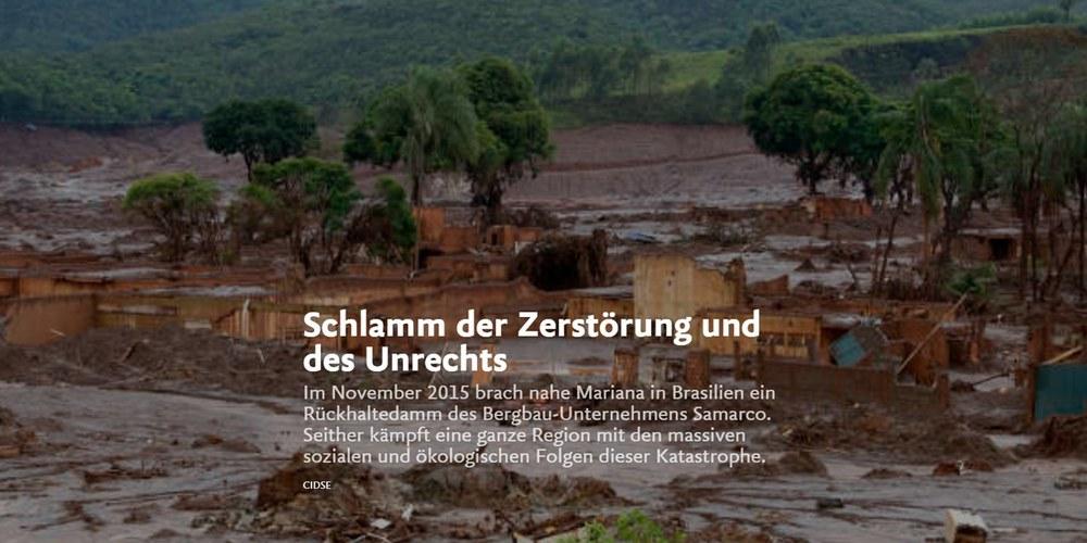 Schlamm der Zerstörung und des Unrechts