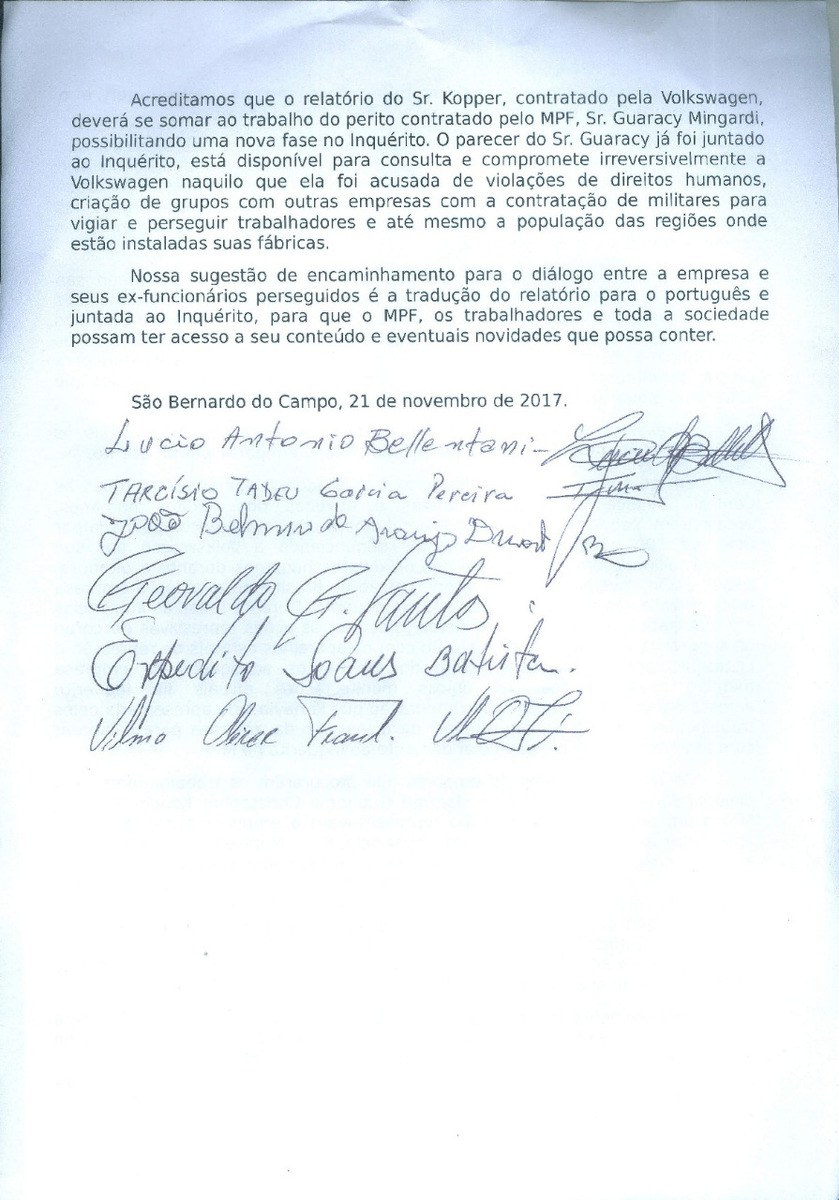 VW und Kollaboration mit der Militärdiktatur: Offener Brief der Ex-Mitarbeiter von VW do Brasil an Volkswagen
