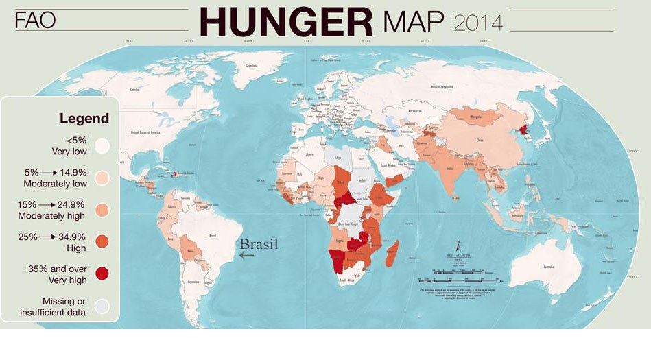 Brasilien droht die Rückkehr auf die FAO-Weltkarte des Hungers