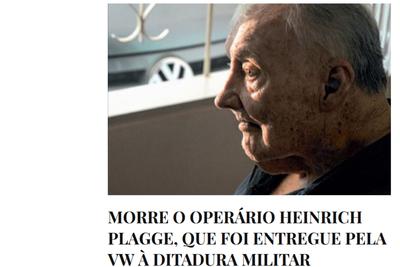 Ex-VW-Mitarbeiter Heinrich Plagge in Brasilien verstorben