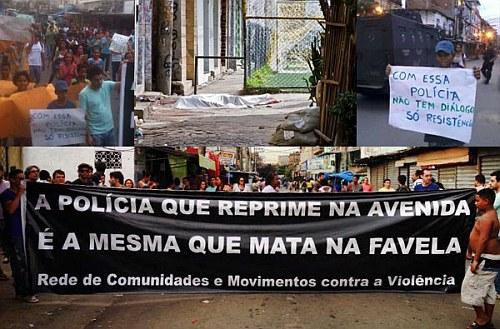 Protesterklärung gegen das Polizeimassaker in Rios Favela Maré