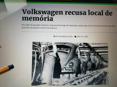 Offener Protestbrief gegen Volkswagen do Brasil: Für die Erinnerung der Arbeiterinnen und Arbeiter im Kampf gegen die brasilianische Diktatur