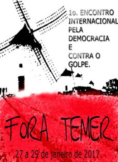 1. internationale Treffen für die Demokratie und gegen den Staatsstreich in Brasilien