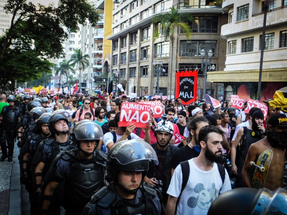 Erneut Protest gegen Fahrpreiserhöhung in São Paulo