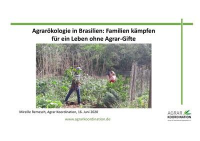 Agrarökologie in Brasilien: Familien kämpfen für ein Leben ohne Agrar-Gifte
