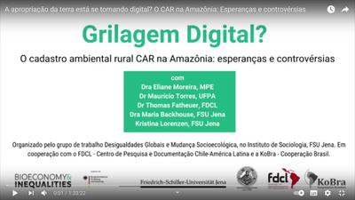 A apropriação da terra está se tornando digital? O Cadastro Ambiental CAR na Amazônia: Esperanças e controvérsias
